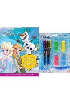 Set carte + jucarie - disney highlighter & gel pen/*** imagine elefant.ro 2021-2022