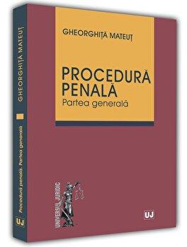 Procedura penala. Partea generala/Gheorghita Mateut imagine elefant.ro 2021-2022