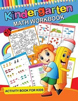 Kindergarten Math Workbook: Easy and Fun Activity Book for Kids and Preschool, Paperback/Origami Publishing image0