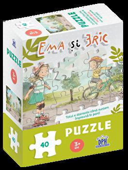 Ema si Eric in parc - puzzle/Ioana Chicet Macoveiciuc