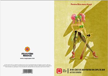 Felicitare - 20 de carti de aur pentru un copil de aur (pentru ea)/Autori romani imagine elefant.ro 2021-2022