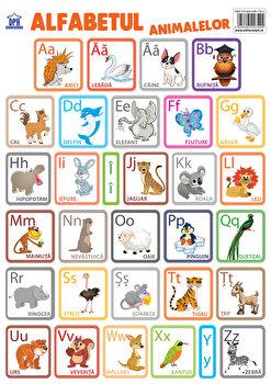 Plansa - alfabetul animalelor in limba romana-Didactica Publishing House imagine