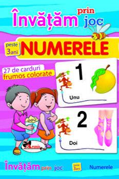 Invatam prin joc numerele - 27 carduri, ed a 2-a. Carti de joc educative/*** imagine elefant.ro 2021-2022