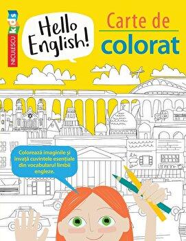 Hello English! Carte de colorat/Sam Hutchinson, Emilie Martin