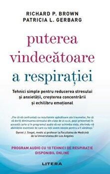 Puterea vindecatoare a respiratiei-Richard P. Brown, Patricia L. Gerbarg imagine