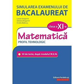 Simularea examenului de bacalaureat. Matematica. Clasa a XI-a. Profil tehnologic/Lucian Dragomir, Adriana Dragomir, Ovidiu Badescu