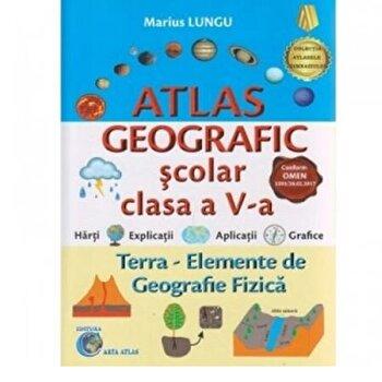 Atlas geografic clasa a V-a/Marius Lungu
