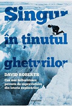 Singur in Tinutul gheturilor. Cea mai tulburatoare poveste de supravietuire din istoria explorarilor/David Roberts imagine elefant 2021