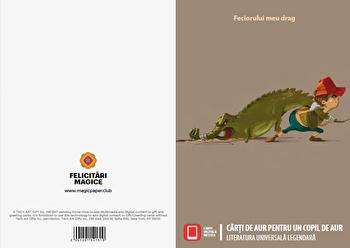 Felicitare - Carti de aur pentru un copil de aur (pentru el)/Literatura universala legendara imagine elefant.ro 2021-2022
