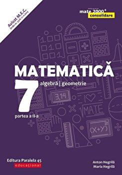 Mate Consolidare. Cls. VII. Partea II. 2019-2020 (Negrila)/Anton Negrila, Maria Negrila
