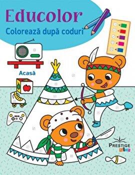 Educolor. Coloreaza dupa coduri. Acasa/Silvana Benaghi,Cecile Marbehant