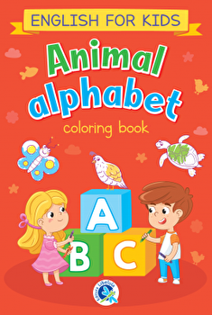 Animal alphabet. English for kids. Carte de colorat/***