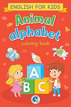 Animal alphabet. English for kids. Carte de colorat/***