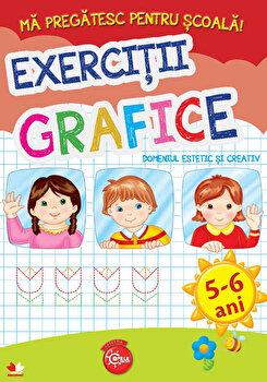 Ma Pregatesc Pentru Scoala. Exercitii Grafice (Fise Activitati) 5-6 Ani/***