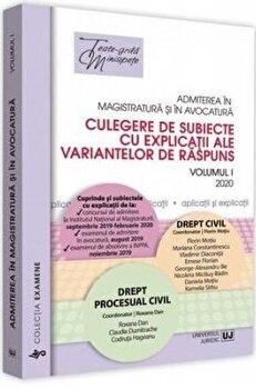 Admiterea in magistratura si in avocatura, vol. I - Drept civil, drept procesual civil ed. a II-a/Florin Motiu imagine elefant.ro 2021-2022