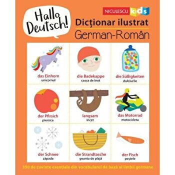 Hello Deutsch! Dictionar ilustrat german-roman/Sam Hutchinson poza cate