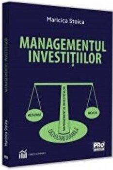 Managementul investitiilor/Maricica Stoica imagine elefant.ro 2021-2022