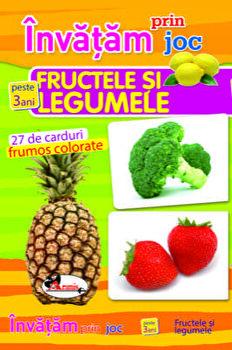Invatam prin joc fructele si legumele - 27 de carduri frumos colorate - peste 3 ani/***