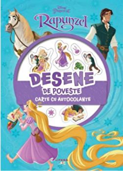 Disney. Printese. Rapunzel. Desene de poveste. Carte cu autocolante/***