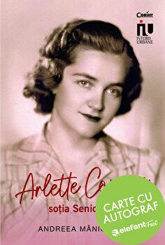 Arlette Coposu, sotia seniorului-carte cu autograf/Andreea Maniceanu poza cate