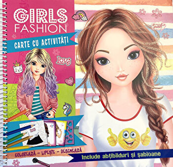 Girls fashion. Carte cu activitati/Brijbasi