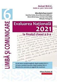 Evaluare nationala 2021. Cls. VI. Limba si comunicare/Mina-Maria Rusu imagine