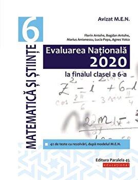 Evaluarea Nationala 2020 la finalul clasei a VI-a. Matematica si Stiinte/Florin Antohe, Bogdan Antohe