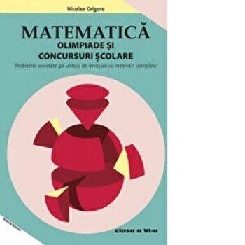 Matematica - Olimpiade si concursuri scolare. Clasa a VI-a. Probleme selectate pe unitati de invatare cu rezolvari complete/Nicolae Grigore