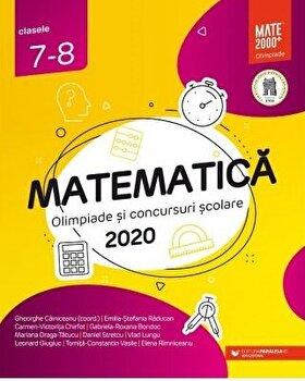 Matematica. Olimpiade si concursuri scolare 2020. Clasele 7-8/*** imagine elefant.ro