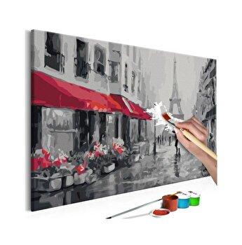 Pictura pe numere - Rainy Paris - 60 x 40 cm