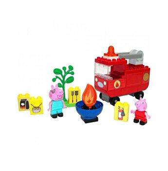 Set de constructie Big Bloxx Peppa Pig masina de pompieri
