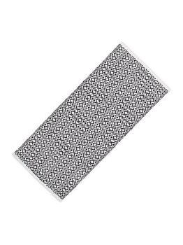 Covor bumbac Relaxdays, lucrat manual, strat anti-alunecare, grosime 1 cm, alb-negru, 80 x 200 cm, model carouri imagine