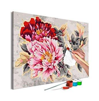 Pictura pe numere - Beautiful Peonies - 120 x 80 cm