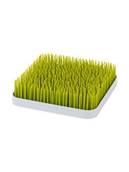 Suport pentru uscare biberoane si vesela, model iarba, verde-alb imagine
