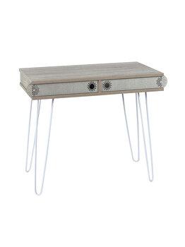Masa tip birou, 96 x 51 x 75 cm, culoare stejar-gri, Quasar&Co. elefant