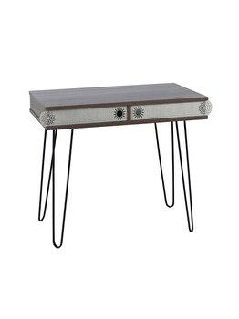 Masa tip birou, 96 x 51 x 75 cm, culoare nuc pacific, Quasar&Co.,