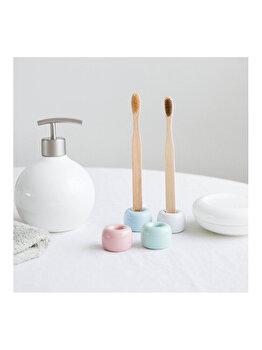 Suport ceramic pentru periuta de dinti, diametru 1.5 cm, bleu imagine 2021