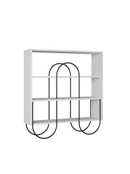 Consola living Quasar & Co., 96 x 25,5 x 99 cm, lemn/metal, alb imagine 2021