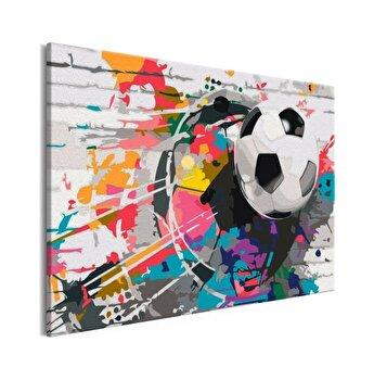 Pictura pe numere - Colourful Ball - 60 x 40 cm