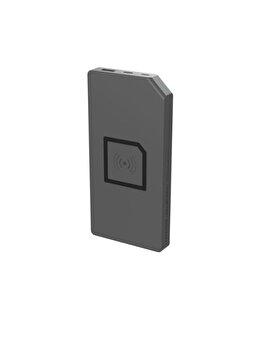 Baterie Externa Designnest 10838gy/pduowl, 8000 Mah, Universal, Functie Incarcare Wireless, Gri