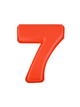 Forma de copt din silicon cifra 7, termorezistenta de la -40 la +230 grade C, h 23.5, mare, forma de tort/prajitura in forma cifrei 7, tava cifra 7, tava copt, tava silicon, rosu, Quasar&Co.