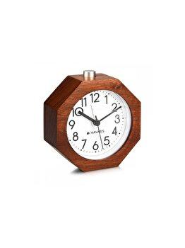 """<span class=""""title-long"""">Ceas cu alarma analogic din lemn Snooze Retro, Navaris, 43904, lemn, Maro</span>"""
