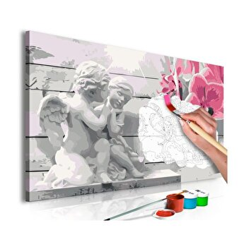 Pictura pe numere - Angels (Pink Orchid) - 60 x 40 cm