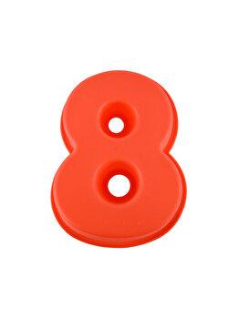 Forma de copt din silicon cifra 8, termorezistenta de la -40 la +230 grade C, h 23.5, mare, forma de tort / prajitura in forma cifrei 8, tava cifra 8, tava copt, tava silicon, rosu, Quasar&Co.