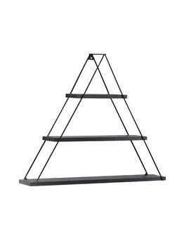 Raft triunghiular de perete cu 3 polite, 74 x 13 x 61 cm, negru, Quasar Deko, MT191005 imagine