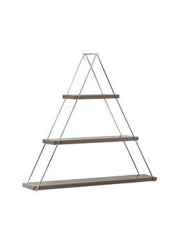 Raft triunghiular de perete cu 3 polite, 74 x 13 x 61 cm, culoare nuc, Quasar&Co. imagine 2021
