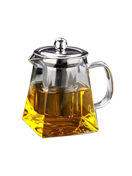 Ceainic cu infuzor Quasar&Co., 350ml, recipient pentru ceai cu infuzor si capac elefant