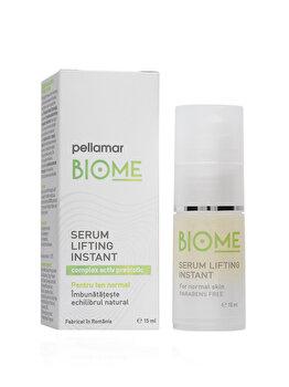 Ser lifting instant pentru ten normal Pellamar Cosmetics Biome, 15 ml poza