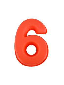 Forma de copt din silicon cifra 6, termorezistenta de la -40 la +230 grade C, h 23.5, mare, forma de tort/prajitura in forma cifrei 6, tava cifra 6, tava copt, tava silicon, rosu, Quasar&Co.