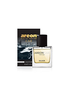 Odorizant auto lichid Areon, parfum 50 ml, New design Silver imagine